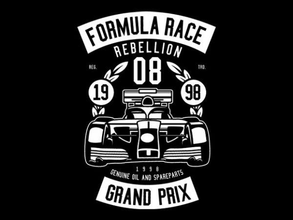 Formula Race Tshirt Design buy t shirt design