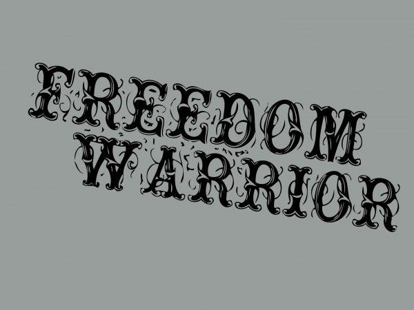 Freedom Warrior t shirt graphic design