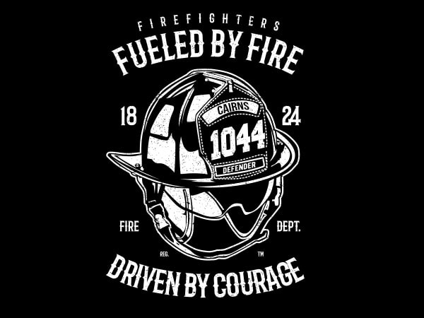 Fueled By Fire Vector t-shirt design buy t shirt design