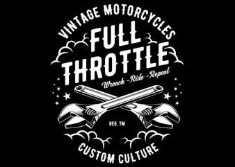 Full Throttle Vector t-shirt design buy t shirt design