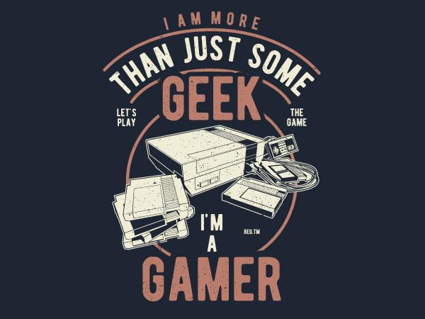 Geek Gamer Graphic t-shirt design buy t shirt design