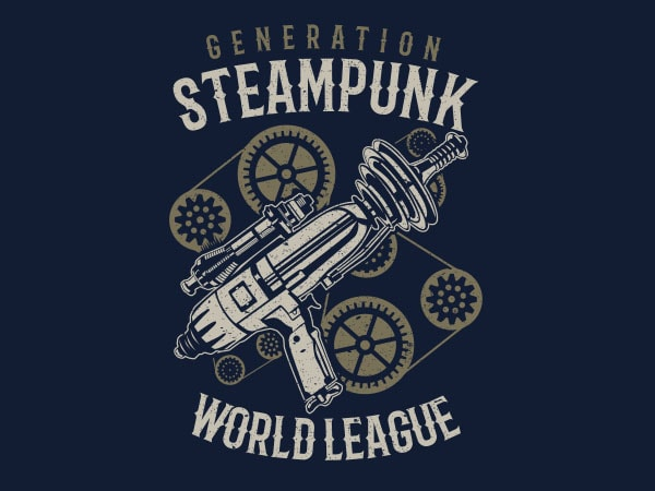 Generation Steampunk Vector t-shirt design buy t shirt design