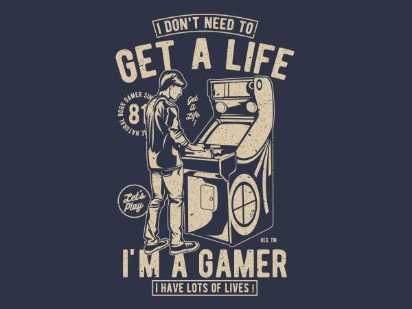 Get A Life Vector t-shirt design buy t shirt design