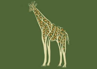Giraffe Tshirt Design buy t shirt design
