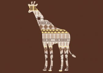 Giraffe Ornament Tshirt Design buy t shirt design
