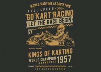 Go Kart Racing Vector t-shirt design buy t shirt design
