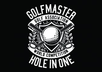 Golf Master Tshirt Design