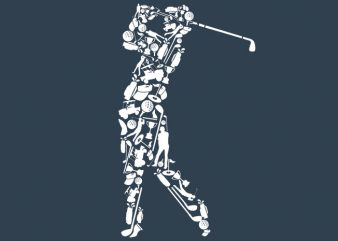 Golf Player Tshirt Design