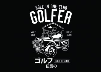Golf Truck Tshirt Design t shirt vector