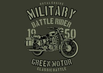 Green Military Ride Graphic t-shirt design buy t shirt design