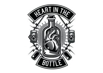 Heart In The Bottle Tshirt Design