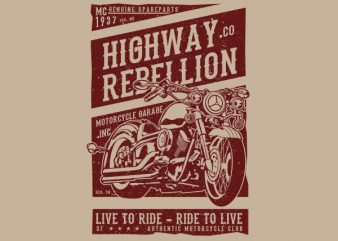 Highway Rebellion Graphic t-shirt design buy t shirt design