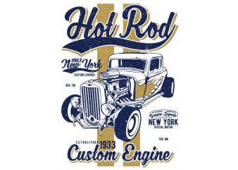 Hot Rod New York Graphic t-shirt design buy t shirt design