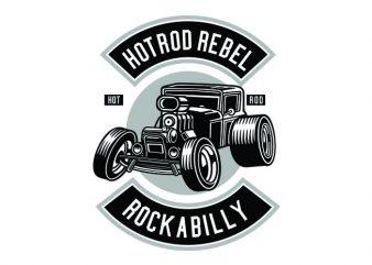 Hotrod Rebel Tshirt Design buy t shirt design