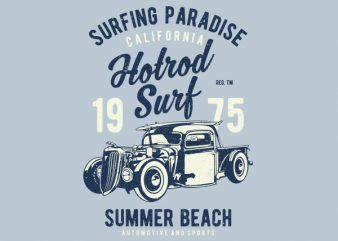 Hotrod Surf Graphic t-shirt design buy t shirt design