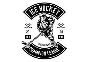 Ice Hockey Champion League Tshirt Design buy t shirt design