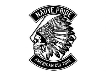 Indian Native Pride Tshirt Design buy t shirt design