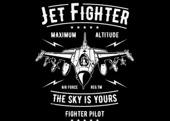Jet Fighter Graphic t-shirt design buy t shirt design
