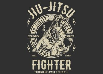 Jiu Jitsu Graphic t-shirt design t shirt template