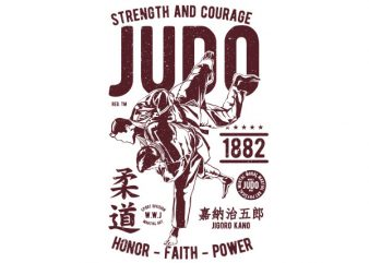 Judo Graphic t-shirt design