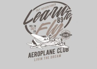 Learn To Fly Vector t-shirt design