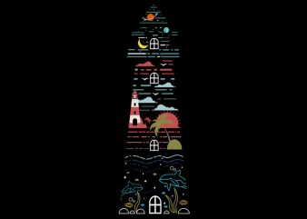 Lighthouse Tshirt Design