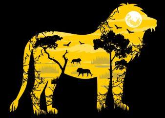 Lion Tshirt Design buy t shirt design