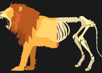 Lion Life Death Tshirt Design buy t shirt design