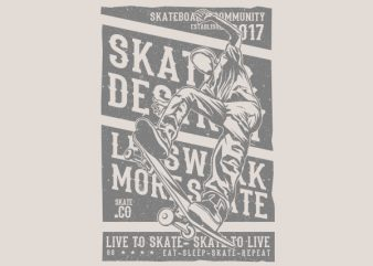 Live To Skate Graphic t-shirt design t shirt template