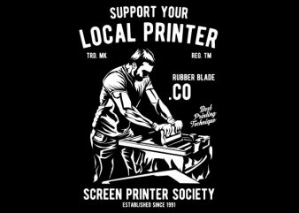 Local Printer Graphic t-shirt design t shirt vector