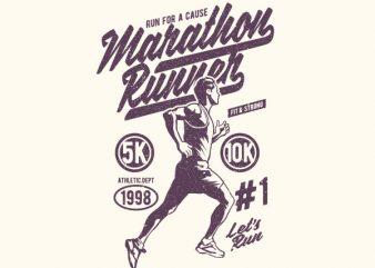 Marathon Runner Graphic t-shirt design buy t shirt design