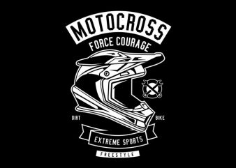 Motocross Force Courage Tshirt Design