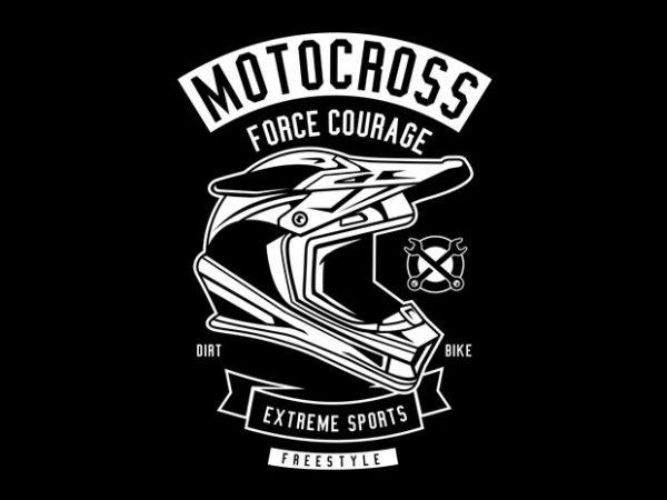 Motocross Force Courage Tshirt Design buy t shirt design