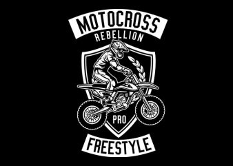 Motocross Rebellion Tshirt Design