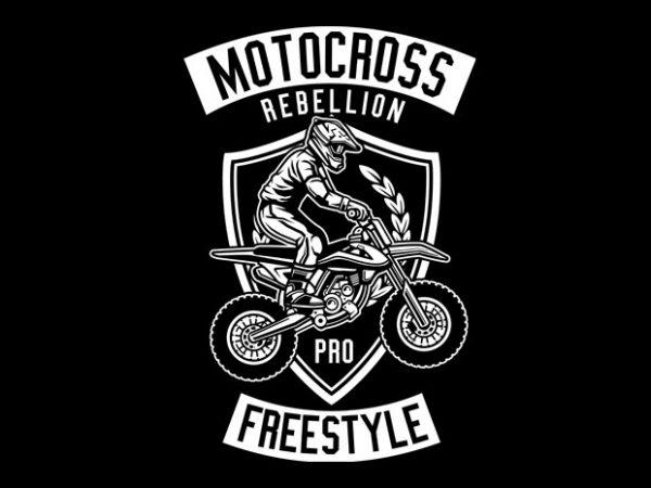 Motocross Rebellion Tshirt Design