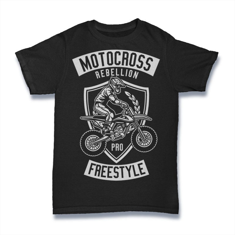 Motocross Rebellion Tshirt Design buy t shirt design
