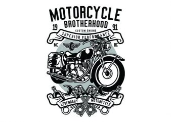 Motorcycle Brotherhood Tshirt Design