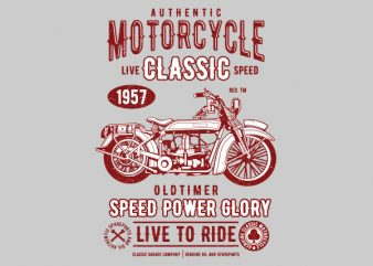 Motorcycle Classic Graphic t-shirt design