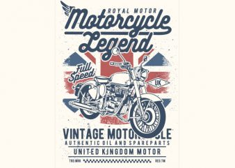 Motorcycle Legend Vector t-shirt design