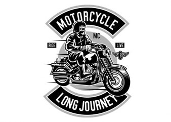 Motorcycle Long Journey Tshirt Design buy t shirt design