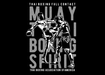 Muay Thai Vector t-shirt design t shirt template