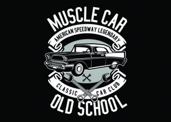 Muscle Car Tshirt Design