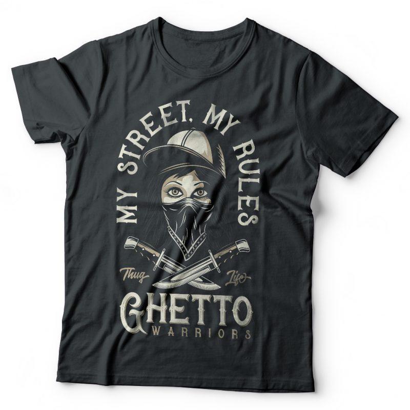 My street My rules. Vector T-Shirt Design buy t shirt design