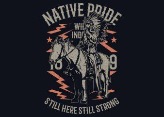 Native Pride Vector t-shirt design buy t shirt design