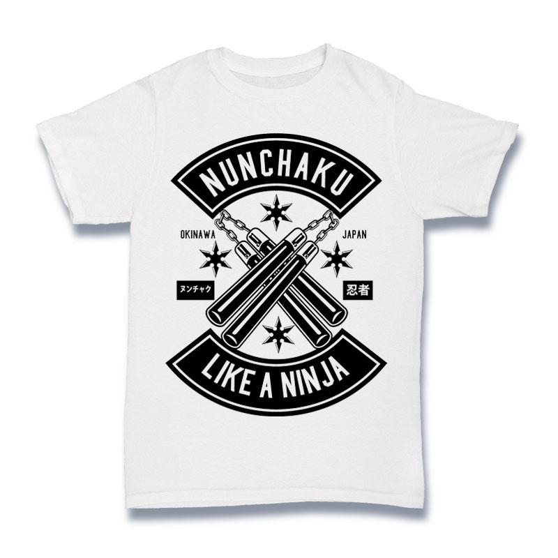 Nunchaku Tshirt Design buy t shirt design