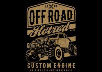 Offroad Hotrod Vector t-shirt design