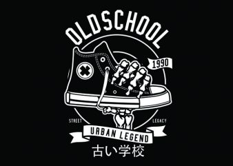 Old School Tshirt Design buy t shirt design