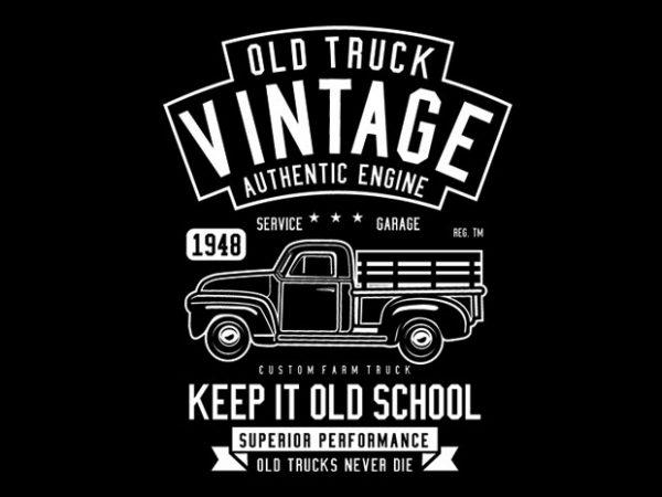Old Truck Vintage buy t shirt design