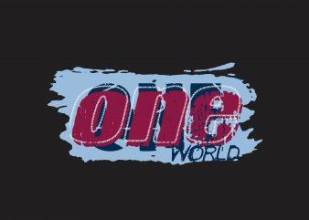 One World buy t shirt design