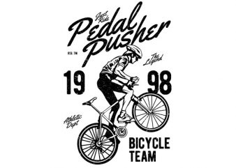 Pedal Pusher Graphic t-shirt design buy t shirt design